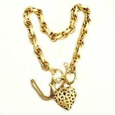9ct 9kt Gold fancy engraved double link padlock bracelet Made in Italy UnoAerre