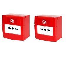 2x KAC Fire Alarm, Conventional Break Glass Manual Call Point 470ohm