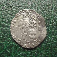 Louis XIII - Quart Ecu de Béarn à la Croix fleurdelisée  1630  Morlaas