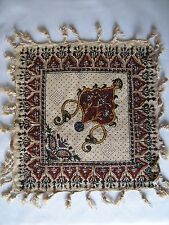 Persian handmade fine art calico signed paisley tapestry tablecloth wall hanging