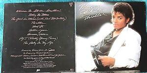 MICHAEL JACKSON: THRILLER - LP - 1982 - very good