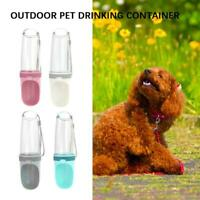 Portable Puppy Dog Cat Travel Water Bottle Pet Cap Foldable Drink Bowl Feeder