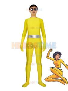Totally Spies Lady Cosplay Halloween Costumes Spandex Bodysuit 5 Colors