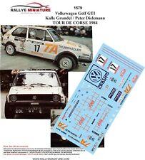 Decals 1/18 Ref 1579 VW Volkswagen Golf Gti Grundel Tour Of Corse 1984 Rally