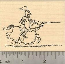 Jousting Medieval Knight Rubber Stamp, in shining armor K20921  WM