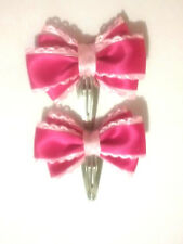 Baby hair clips - HOT PINK (BHC01)