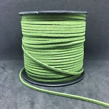 2.5 Meters 3mm Suede Faux Leather Cord Lace String For Jewellery Making Green