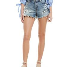 Free People distressed denim shorts new NWT $88 Size 26