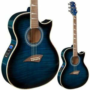 B-STOCK Lindo ORG-SL Slim Blue Electro Acoustic Guitar Preamp + Gigbag 10%OFF