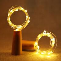 10X 20 LED Flaschenlicht Weinflasche Kork Lichterkette Nachlicht Party Light