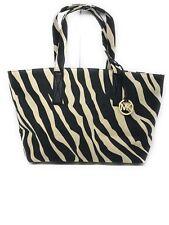 Michael Kors Zebra Print Canvas Large Tote Handbag