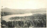 Big Bear Lake California Howland Dewey C-1910 RPPC Photo Postcard 8909
