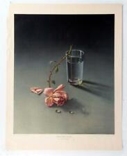 Vintage VLADIMIR TRETCHIKOFF Weeping Rose Still Life Realism Lithograph #Z190