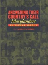 Answering Their Country's Call: Marylanders in World War II-ExLibrary