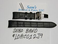 Seiko LeGrand Solar L0AC-B-21(mm) SNE427 SNE428 SNE398 SNE395 Black Leather Band