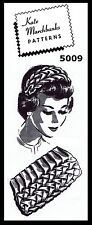 Marchbanks SMOCKED HEADBAND & BAG 60's Vint 5009 Fabric Material Sewing Pattern