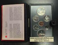 CANADA 1980 PRESTIGE SILVER SET 1 DOLLAR POLAR BEAR 7 Coin ESTUCHE PLATA PROOF