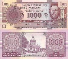 Paraguay P222b, 1000 Guarani,, Virgin of Asunción Church / Mariscal Lopez UNC