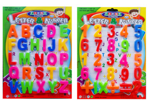 Large Magnetic Letters Alphabet & Numbers Fridge Magnets Toys Kids Learning