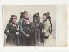 Badische Volkstrachten Schwarzwaelderinnen a Furtwangen Postcard Germany 395a