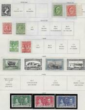 11 Falkland Islands Stamps w/War Tax from Quality Old Antique Album 1904-1937