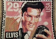 Elvis Usa Rock & Roll Singer 1935-1977 Blowing Rock Crafts Cotton Throw Blanket