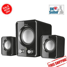 More details for 2.1 pc speakers with subwoofer for computer laptop compact system 12w usb powere