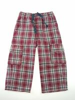 Gymboree Boys Sz 18-24 Months Rock N Roll 101 Plaid Cargo Pants Red Blue 2009