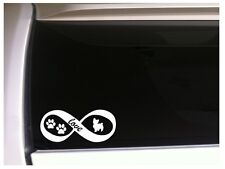 """Yorkie Love Infinity vinyl car decal 7"""" L95 pets puppy animal dogs"""