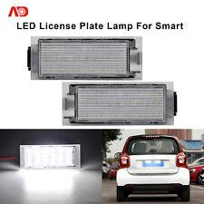 2PCS 18-SMD LED License Plate Lamps Light For Smart Renault Twingo Megane Laguna