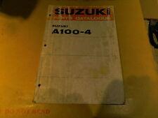 SUZUKI A100-4 A 100  GENUINE PARTS CATALOGUE MANUAL