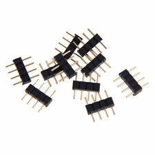 10 pcs 4-pin Male Connector for RGB 5050 LED Strip Light Connect Black