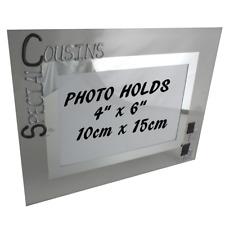 Special Cousins Gift Photo Frame: Landscape (Blk/Sil)