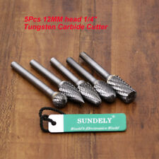 Brand New Drillpro 5pcs Tungsten Carbide Rotary Point Burr Die Grinder 6MM Shank