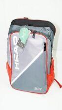 * nuevo * Head elite backpack gris rojo MOCHILA BOLSO pro Grey red tenis new bag