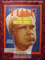 TIME Magazine February 11 1974 Feb 2/11/74 ARMS RACE JAMES SCHLESINGER