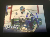 Roberto Luongo Signed 2008/09 Fleer Ultra Vancover Canucks Card # 199
