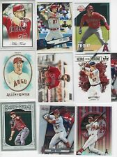 Mike Trout (10) Card Assorted Lot Insert, Parallel, Base Los Angeles Angels