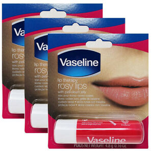 Vaseline Lip Therapy, 0.16oz, Rosy Lips (Pack of 3)
