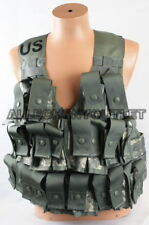 Lot of Fighting Load Carrier w/ Grenadier Set, ACU, FLC MOLLE Vest w/ 16 Pouches