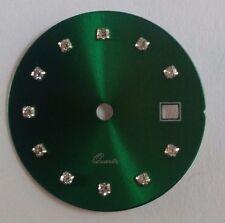 Quadrante tipo Rx verde con zirconi per calibro ETA 956.112-F03.111-Ronda 775