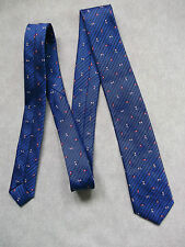 BOYS VINTAGE TIE MOD CASUAL 1970'S 1980'S BNWOT NEW AGE 4-10 BRIGHT ROYAL BLUE