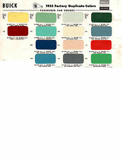1955 BUICK SUPER SPECIAL ROADMASTER CENTURY ESTATE WAGON 55 PAINT CHIPS SW 3