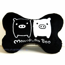 Monokuro Boo Black Car Seat Head Rest Neck Cushion Pillow One Pair