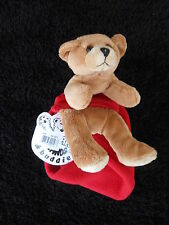 New Teddy Bear Fleece Red Scarf for Kids Children by Bear Hands & Buddies