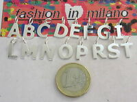 ciondoli charms lettere dell'alfabeto in argento 925 lucido (scegli la lettera)