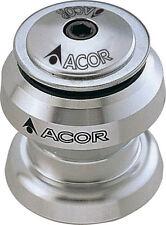 "ACOR Alloy Threadless Headset 1.1/8"" MTB Bicycle Bike Silver aheadset 28.6mm"