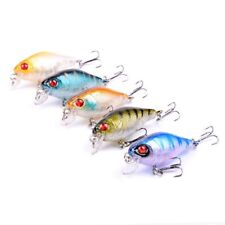 Lot 5 Fishing Baits Minnow Lures Floating Rattles Bass Crankbait 4cm Paxipa