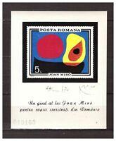 39039) Romania 1970 MNH Miro Painting S/S