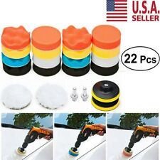 22PC Polishing Pad Sponge Buff Buffing Kit Set For Car Polisher 3Inch USA